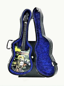 Miniature Fender Stratocaster Guitar - Iron Maiden - (Includes Blue Hard Case)