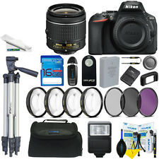 Nikon D5600 DSLR Camera with 18-55mm Lens + Expo-Basic Accessory Bundle
