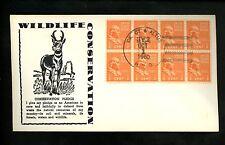US Postal History Animals Wildlife Conservation Pronghorn 1960 OK. CY Altus HPO