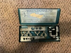 Vintage Imperial Tubing Flaring Tool Kit No 375-FS with Slip-on Yoke (Blue Box)
