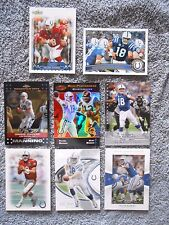 Lot of 8 Indianapolis Colts Peyton Manning NFL Football Trading Cards