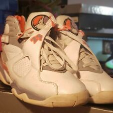 sneakers for cheap 81003 adfc0 2007 AIR JORDAN 8 Retro White Stealth, Orange Blaze VIII 305381-102 - Size