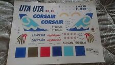 Boeing 747 UTA & CORSAIR & EGYPT AIR Brasil Decals BD144-256 1/144