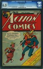 Action Comics #95 CGC 6.5 DC 1946 Superman Cover! Prankster! JLA! G8 193 cm L11