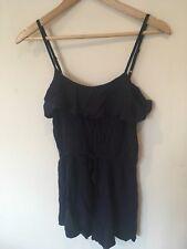 Ladies H Ans M Navy Blue Short Playsuit Size 10 <SW1428