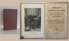 Rötscher Shakespeare in seinen höchsten Chraktergebilden 1864 mit Stahlstich xz