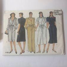 Vogue 1156 Size 8 10 12 Misses' Dress