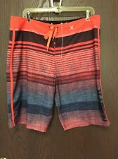 HURLEY Phantom Men's Size 34 Stripe Swim Board Shorts