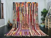 "Boujaad Handmade Tribal Moroccan Rug 6'2""x9'4"" Striped Colorful Berber Wool Rug"