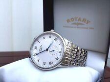 Herren Rotary Swiss Made Armbanduhr Saphirglas UVP £ 260 ideales Geschenk für IHN!!! BOXED
