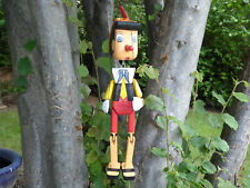 Wooden Hand Carved And Painted Pinocchio Puppet SLIGHT SECONDS..