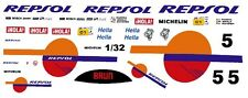 #5 REPSOL Porsche 1/32nd Scale Slot Car Waterslide Decals