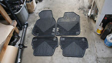 98-04 Audi A6 C5 OEM BLACK Floor Mats Rubber All Weather Front & Rear SET