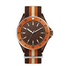 Italian Quartz Unisex Analogue Nylon Strap Water Resistant Aluminium Wristwatch