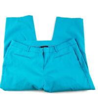 Lane Bryant Womens Pants Size 16 Capri Cropped Blue Rayon Blend Work Casual (