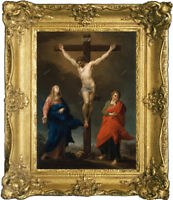 """Old Master Art Portrait Jesus Christ on Crucifixion Oil Painting Unframed 30x40"""""""