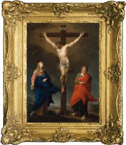 Old Master Art Portrait Jesus Christ on the Cross Oil Painting Unframed 30x40