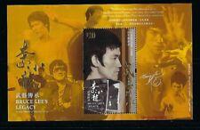 China Hong Kong 2020 Bruce Lee Stamp $20 S/S Martial Art 李小龍