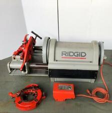 "RIDGID 1224 PIPE THREADER/ THREADING MACHINE WITH 2 HEADS120V 1/2""-4"" SIZE #2"