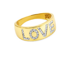 """Damenring - Gelbgold 585/Rhodiniert - mit Zirkonia """"LOVE"""" - Poliert"""