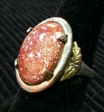 Hand made Stirling Silver Ring with Goldstone