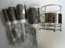 Olivia Garden Ceramic Ion Thermal Brush 4 Brushes Kit with a Carry-on Basket