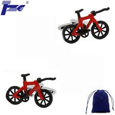 Fashion Cuff Links Men Red & Black Bike Bicycle Cufflinks With Velvet Bag