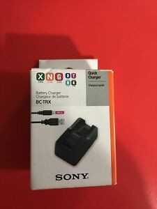 Authentic Genuine Sony Brand BC-TRX Battery Charger - direct / USB