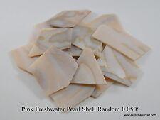 """1oz Inlay materials pink freshwater pearl shell blanks premium 0.050"""""""