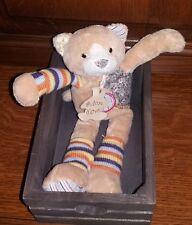 Doudou histoire d'ours chat avec sa caissette en parfait état jamais servi