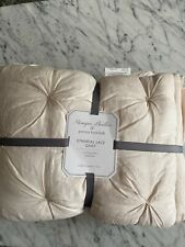 NEW Pottery Barn Monique Lhuillier Ethereal Lace Toddler Quilt Baby  BLUSH