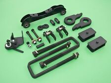 """88-99 K1500 K2500 4WD Forged Full Lift Kit Front 3"""" Rear 2.5""""+Differential Drop"""