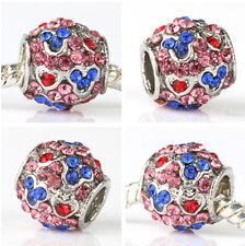 HOT high quality mouse CZ Charm Pendant fit European Silver Bracelet A#471