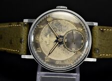 Vintage OMEGA Two Tone Radium Ghost Dial, Cal.30T2, steel 35mm case, 40's watch