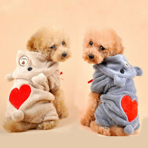 Cute Winter Pet Clothes for Dog Puppy Hoodie Jacket Coat Sweatshirt Warm Sweater
