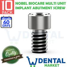 X 10 Nobel Biocare Multi Unit Implant Abutment Screw