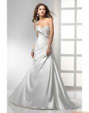 Maggie Sottero 'Faye'.  Wedding Dress.  Size 8. Single Shoulder. Sample.