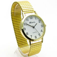 Ravel Da Uomo SUPER-TRASPARENTE orologio al quarzo con bracciale in espansione GOLD 25 R0201.02.1