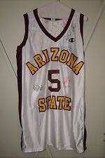 ARIZONA STATE game-worn 1997-98 home basketball jersey #5 (auto'd by coach+team)