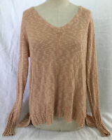 Rip Curl Hideaway Women's Pullover Knit Sweater Long Sleeve Dusty Rose, Size M