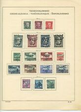 CZECHOSLOVAKIA Overprinted Stamps Collection KARLSBAD 1938 #3