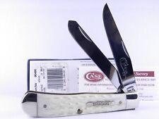 Case 2009 Natural Jigged Bone Trapper Folding Pocket Knife 90490