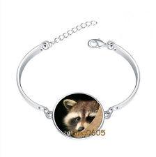 1 pcs Raccoon Bracelet Photo Glass Cabochon Tibet silver Bracelets