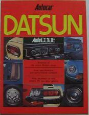 DATSUN Nissan 1977 autocodice AUTOCAR supplemento Cherry Sunny Violet 260C 260Z +
