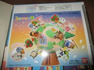 Very Rare ANIMAL CROSSING GLOBE Figure Playset House Bandai Movie Rosie Villager