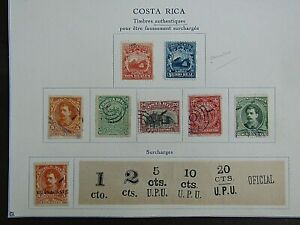 COSTA RICA - EARLIES ON ALBUM PAGE - ALL FOURNIER FORGERIES