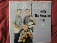 """THE KINGSTON TRIO """"STRING ALONG WITH"""" VINYL LP 1960 CAPITOL RECORDS T-1407, MONO"""