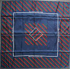 foulard carré de soie MONTE-CARLO COUNTRY CLUB  89 cm x 86 cm VINTAGE