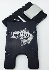 Bass Bones, Billet Aluminum Wallet/Credit Card Hlder, RFID Protection, Black