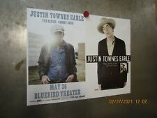 Justin Townes Earle Lot Of 2 Show Posters Bluebird Denver Good Life Steve Earle